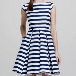 KATE SPADE Mariella Blue Striped Cap Sleeve Dress